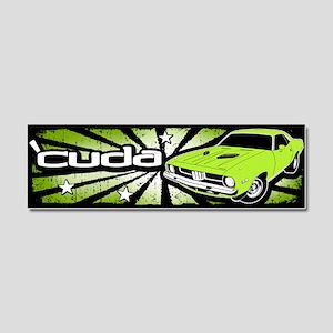 'Cuda - Sub Lime Car Magnet 10 x 3