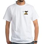 Leopard Logo White T-Shirt