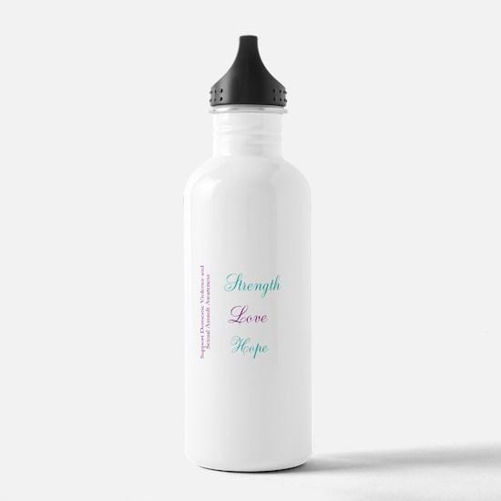 Strength Love Hope Water Bottle