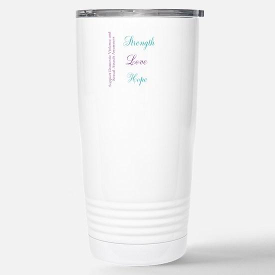 Strength Love Hope Stainless Steel Travel Mug