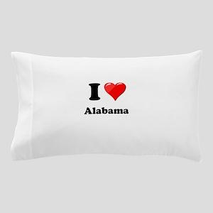 I Heart Love Alabama Pillow Case
