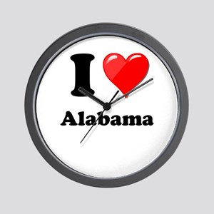 I Heart Love Alabama Wall Clock