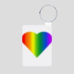 Rainbow Love Gay Pride Aluminum Photo Keychain