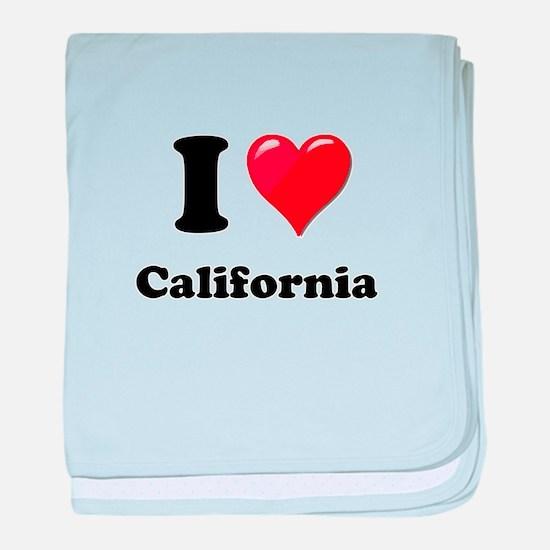 I Heart Love California.png baby blanket