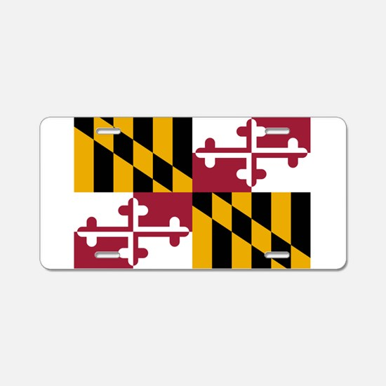 Maryland flag Aluminum License Plate