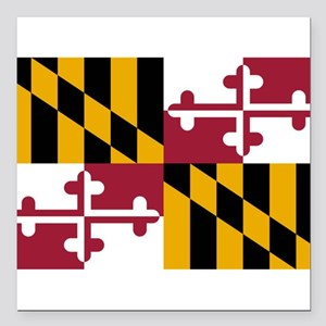 "Maryland flag Square Car Magnet 3"" x 3"""