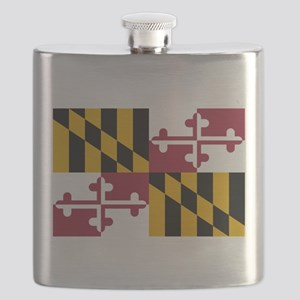 Maryland flag Flask