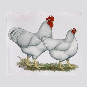 White Rock Chickens Throw Blanket