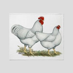 White Rock Chickens Throw Blanket