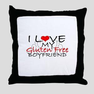 I love my Gluten Free Boyfriend Throw Pillow