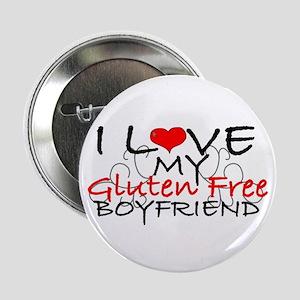 """I love my Gluten Free Boyfriend 2.25"""" Button"""