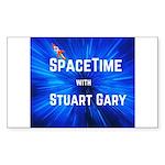 SpaceTime with Stuart Ga Sticker (Rectangle 50 pk)