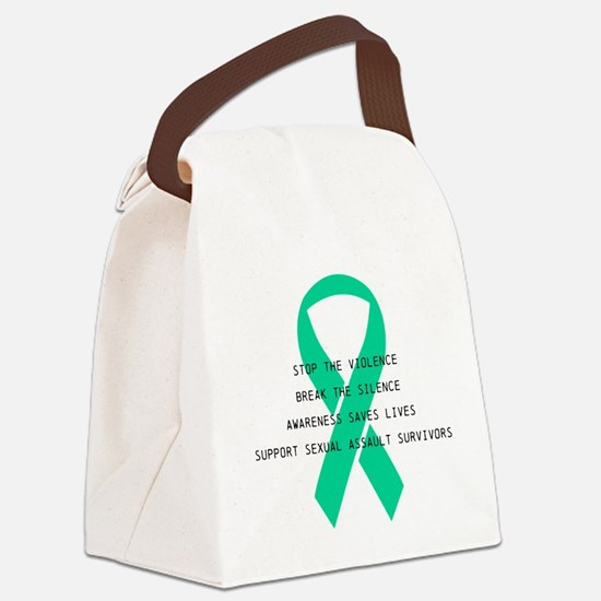 Stop the violence Canvas Lunch Bag