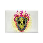 skull Dull Flames Rectangle Magnet (100 pack)