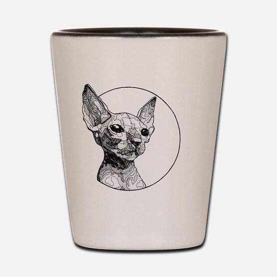 Funny Black kitties Shot Glass