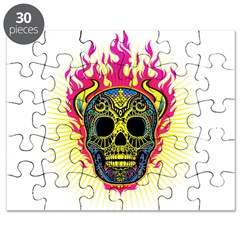 skull Dull Flames Puzzle
