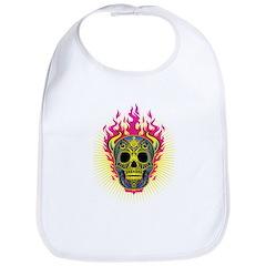 skull Dull Flames Bib