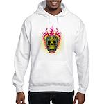 skull Dull Flames Hooded Sweatshirt