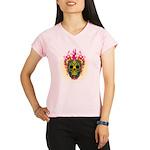 skull Dull Flames Performance Dry T-Shirt