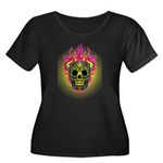 skull Dull Flames Women's Plus Size Scoop Neck Dar