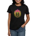 skull Dull Flames Women's Dark T-Shirt
