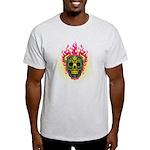 skull Dull Flames Light T-Shirt