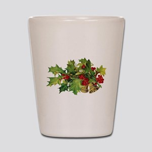 Christmas Holly Shot Glass