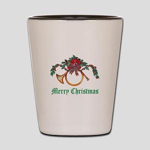 Christmas French Horn Green Shot Glass