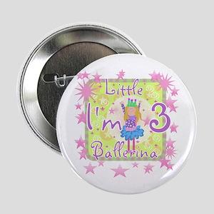 Little Ballerina 3rd Birthday Button