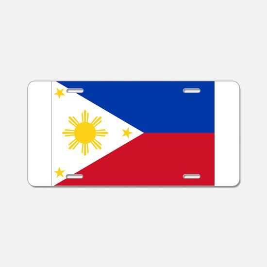 Philippine flag Aluminum License Plate