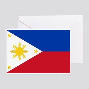 Philippine flag Greeting Card
