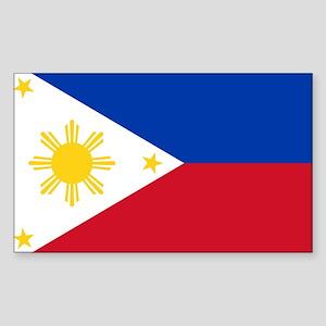 Philippine flag Sticker (Rectangle)