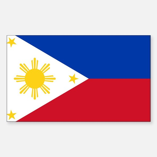 Philippine flag Sticker (Rectangle)