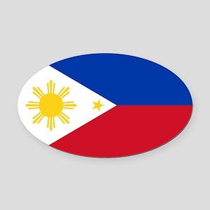 Philippine flag Oval Car Magnet