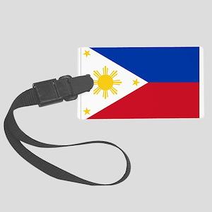 Philippine flag Large Luggage Tag