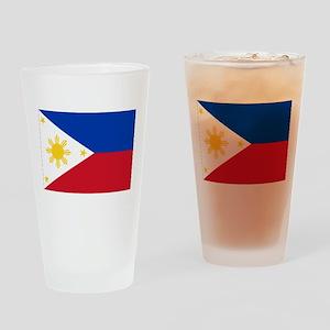 Philippine flag Drinking Glass