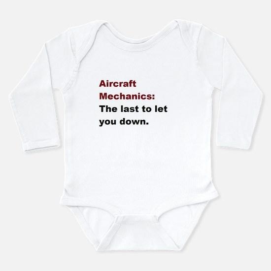 aircraft mech design 1 Long Sleeve Infant Bodysuit