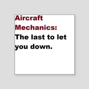 "aircraft mech design 1 Square Sticker 3"" x 3"""