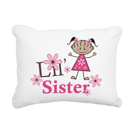 Ethnic Lil Sister Rectangular Canvas Pillow