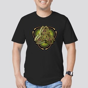 Green Celtic Triquetra Men's Fitted T-Shirt (dark)