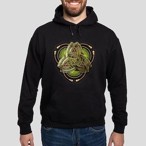 Green Celtic Triquetra Hoodie (dark)