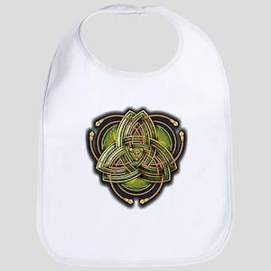 Green Celtic Triquetra Bib