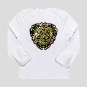 Green Celtic Triquetra Long Sleeve Infant T-Shirt