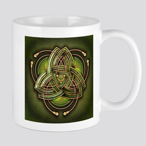 Green Celtic Triquetra Mug