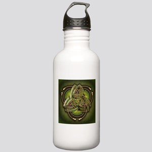 Green Celtic Triquetra Stainless Water Bottle 1.0L