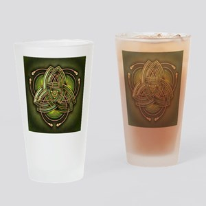 Green Celtic Triquetra Drinking Glass