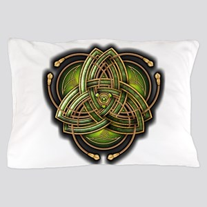 Green Celtic Triquetra Pillow Case