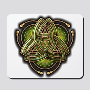 Green Celtic Triquetra Mousepad