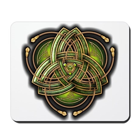 Green Celtic Triquetra Mousepad