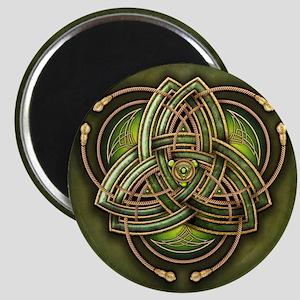 Green Celtic Triquetra Magnet